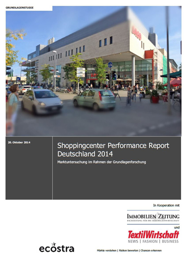 Titelbild Shoppingcenter Performance Report Deutschland 2014